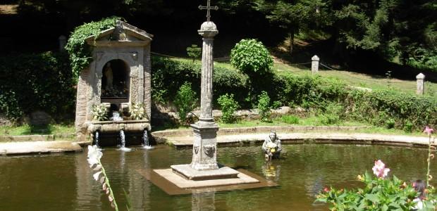 Nella foto il laghetto nel quale, secondo la leggenda, San Bruno faceva penitenza e pregava inginocchiato in acqua.